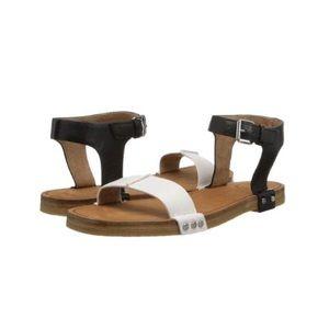 Marc Jacobs Black and White Rivet Sandals